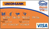 Union Bank Home Depot Visa Card