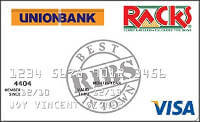 Union Bank Racks Visa Card