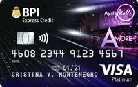 BPI Ayala Malls Amore Platinum Visa Card