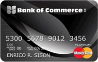 Bank of Commerce Platinum Mastercard