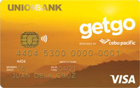 Union Bank Cebu Pacific GetGo Gold Credit Card